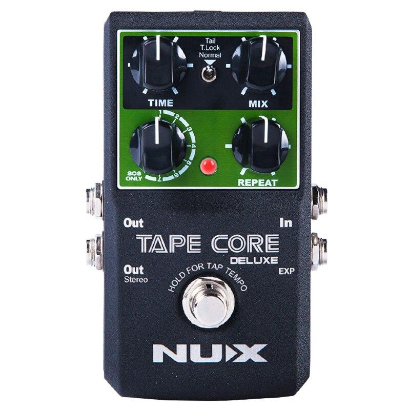 BMDT-NUX Bande Core Deluxe Tape Echo Retard Effets Pédale Classique Tape Echo Ton 7 retard Modes guitare pédale