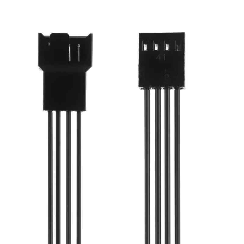ALLOYSEED 25 センチメートルマザーボード 4Pin メス PWM ファンケーブル 4Pin 男性電源延長ケーブル PC 冷却部品