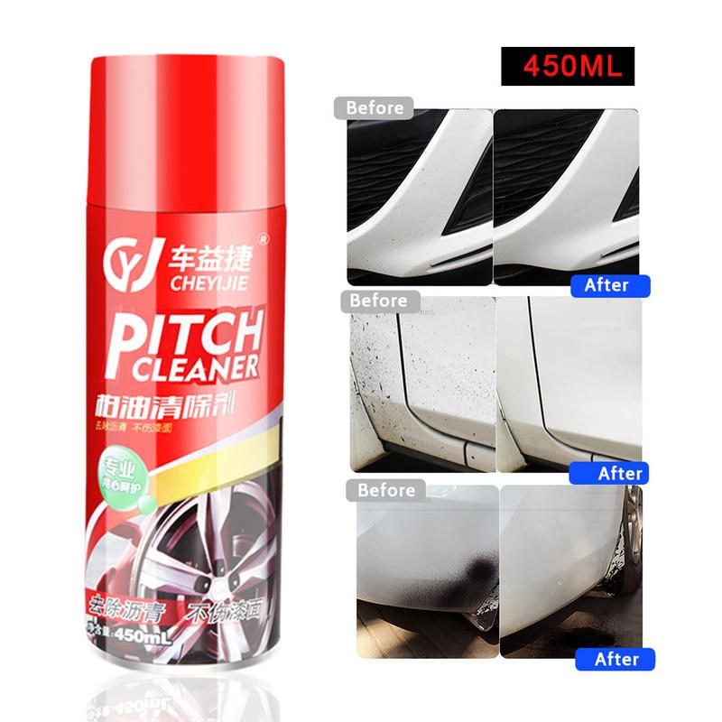 450ML Pitch Cleaner Car Asphalt Cleaner Paint Care Surface Decontaminating Cleaning Agent