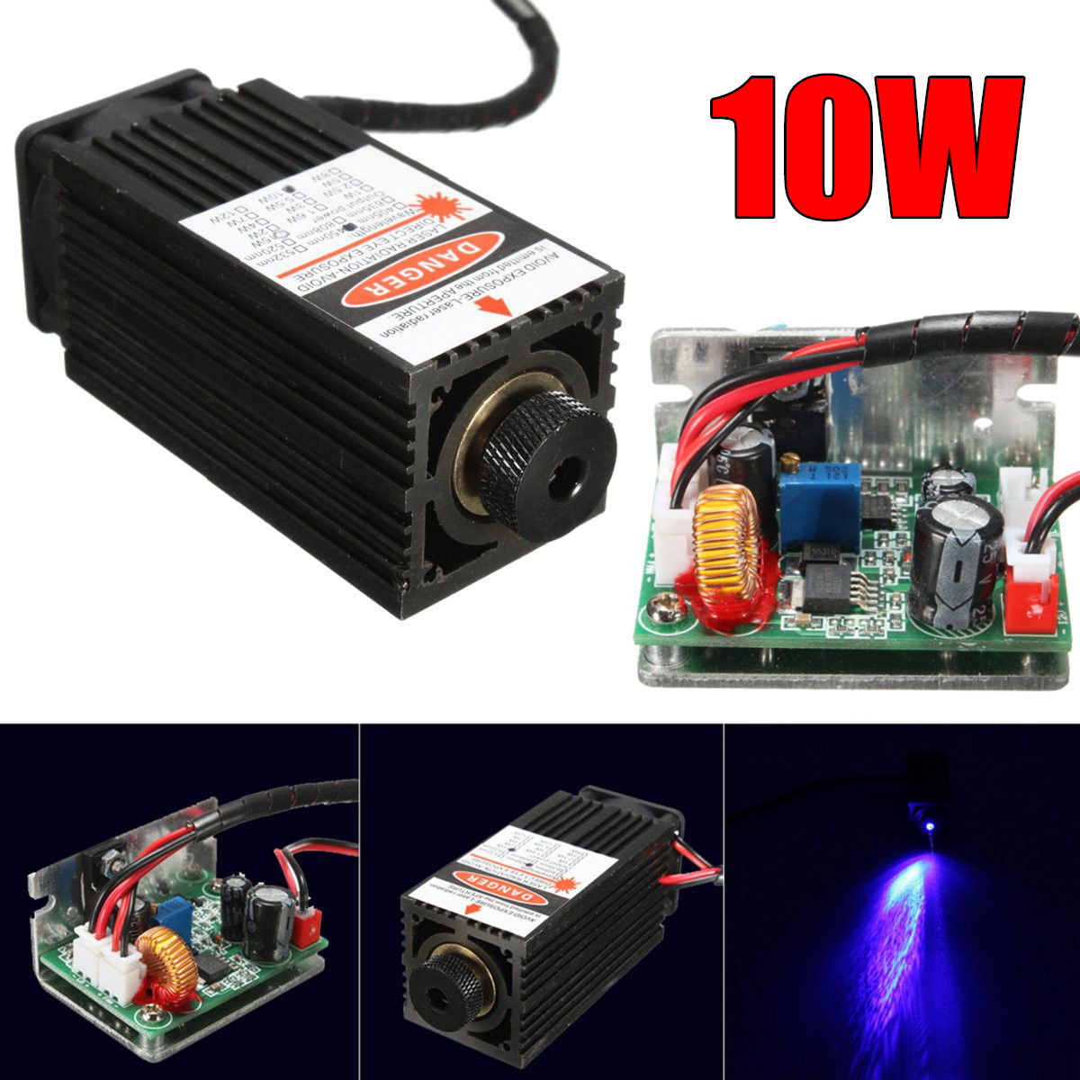 Considerate 10w 10000mw Blue Laser Diode Module Engraving Wood Metal 450nm 445nm Lasers With Ttl Driver High-power Relieving Heat And Thirst.