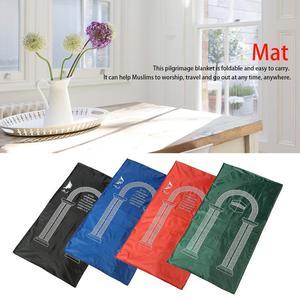 Image 3 - Muslim Portable Travel Worship Mat Waterproof Aanbidding Prayer Mat Rain Cloth Simple Blanket Pocket Pad 105*60cm
