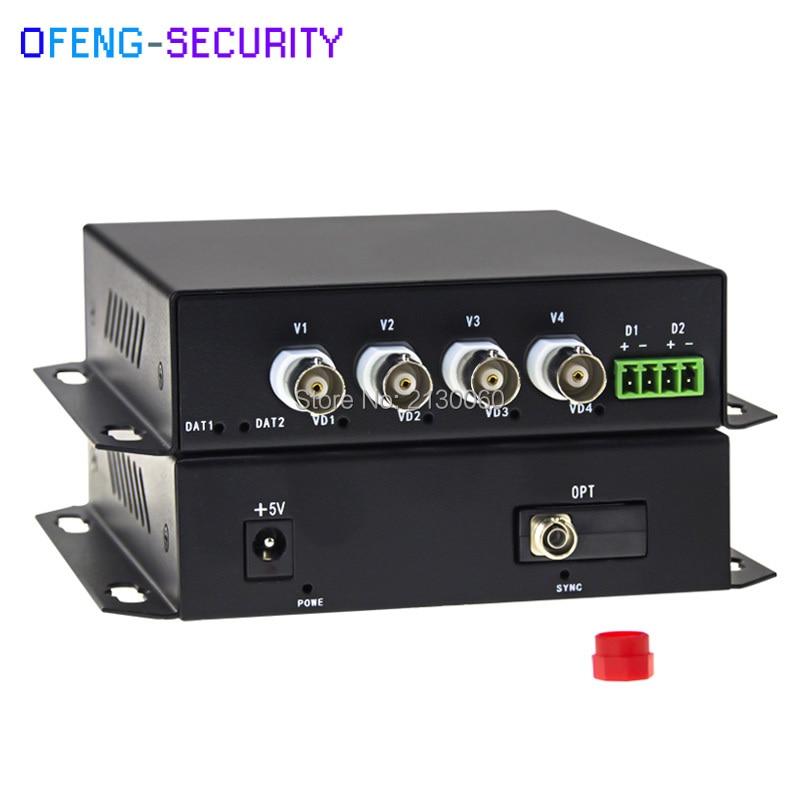 4CH AHD/CVI Video Without Data Video Digital Optical Converter, FC Port, 20KM 960p Fiber Optical Transmitter/ Extender, SM, SF
