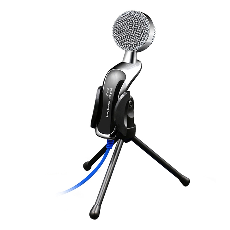 SF-922 Professional Condenser Microphone 3.5mm Wired Handheld Vocal Studio With Stand Mikrofon For Computer Desktop PC Karaoke
