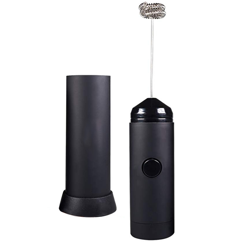 SANQ Mini Handheld Milk Frother - Battery Operated Electric Foam Maker | Includes Kitchen Stand,Latte Hot Milk Eggbeater ,Coff