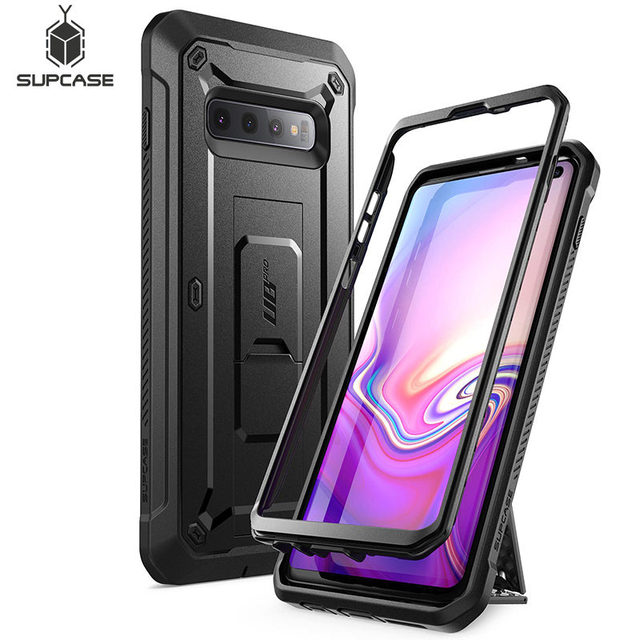 For Samsung Galaxy S10 Case 6.1 inch SUPCASE UB Pro Full Body Rugged Holster Kickstand Case WITHOUT Built in Screen Protector