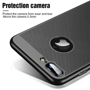 Image 3 - Ultra Slim Phone Case For iPhone 6 6s 7 8 Plus Hollow Heat Dissipation Cases Hard PC For iPhone 5 5S SE Back Cover Coque XS MAX