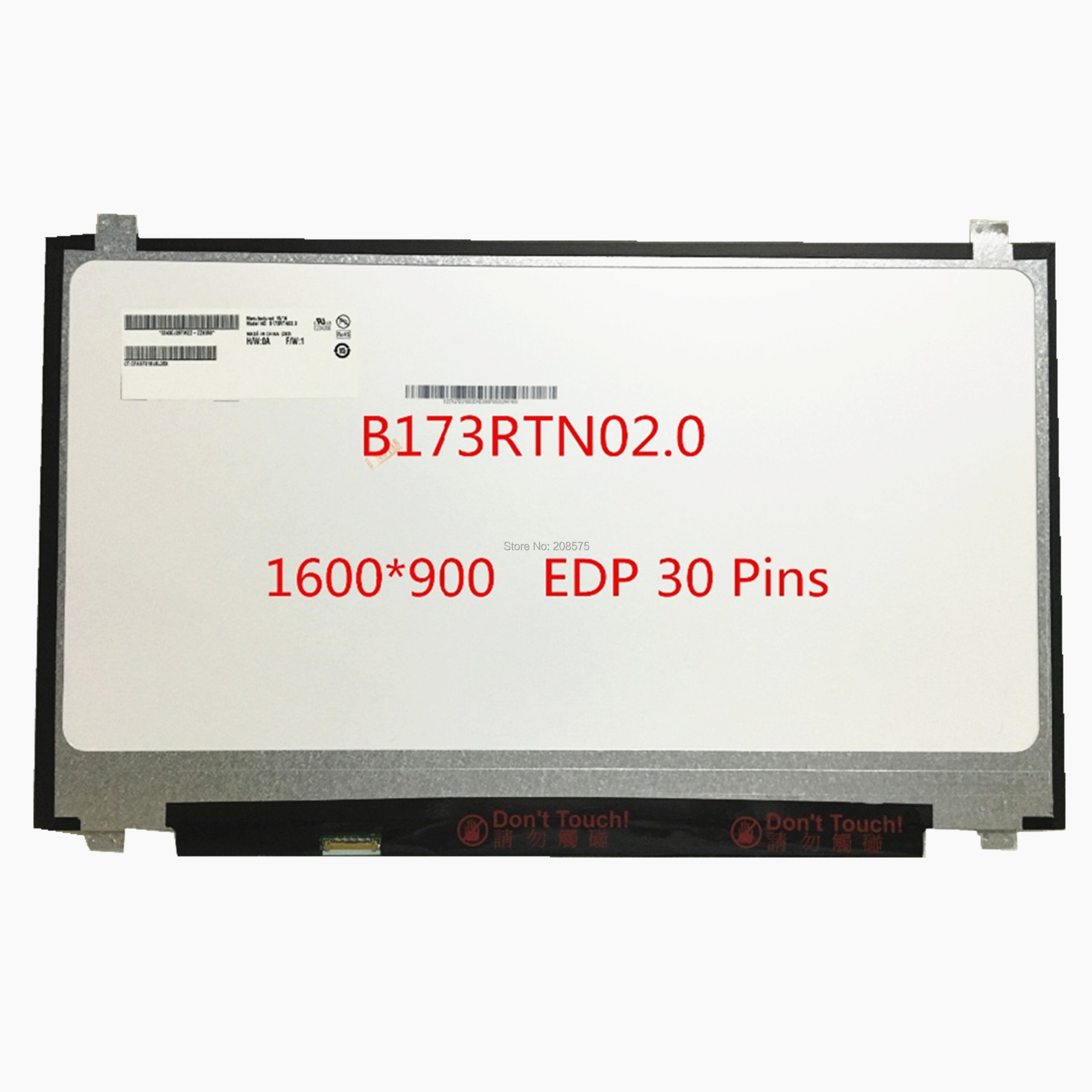 Free Shipping B173RTN02 0 B173RTN02 1 B173RTN02 2 NT173WDM N11 NT173WDM N21 Laptop LCD LED Screen