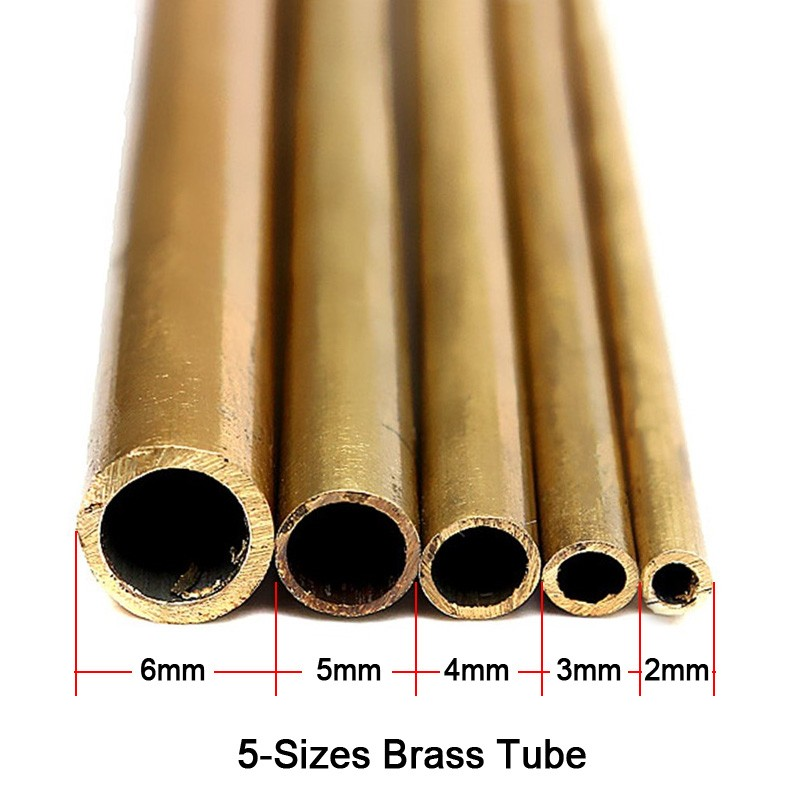1pcs Brass Tubes 2mm-6mm Pipeline Engineering Model Making Tools Brass Pipe Connectors Brass Pipe Round Cutting Tool