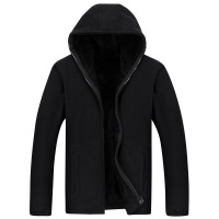 Men's fleece in winter Men's plus Velvet Hooded Sweatshirt Men's Clothing Loose Polar Fleece Jackets Fleece Sports Clothing