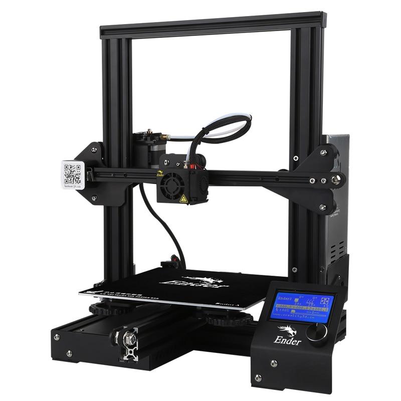 Ender-3 imprimante 3D kit de bricolage v-slot I3 FDM technologie MK10 extrudeuse 220x220x250mm taille 3D suite imprimante PLA TPU ABS Resum