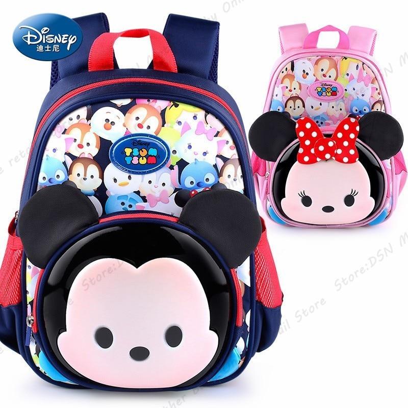 Disney 3D cartoon Mickey Waterproof Orthopedic High Quality School Book Backpack Cartoon Kids Large Capacity Bag Creative Gift