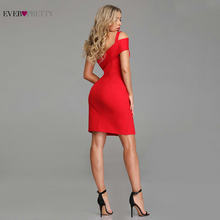 Red Cocktail Dresses Ever Pretty Sexy Little Mermaid Leg Slit Short Party Gowns 2019 New Arrival Backless Formal Dresses(China)