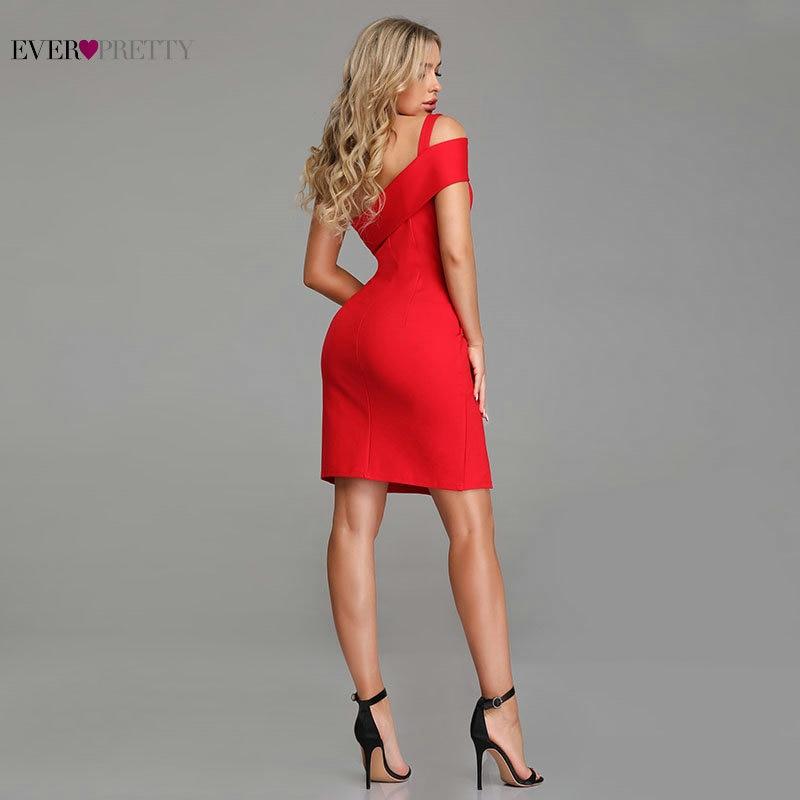 Vestidos Rojos de cóctel siempre bonito Sexy sirenita pierna Slit corto vestidos de fiesta 2019 nueva llegada vestido formal sin espalda