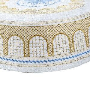 Image 3 - ערב הסעודית Mens Moslim תפילת כובעי אסלאמי מצנפת יהודית כיפה גולגולת כובע הודי כובע Topi את כובע Namaz כפת Gorro Musulman