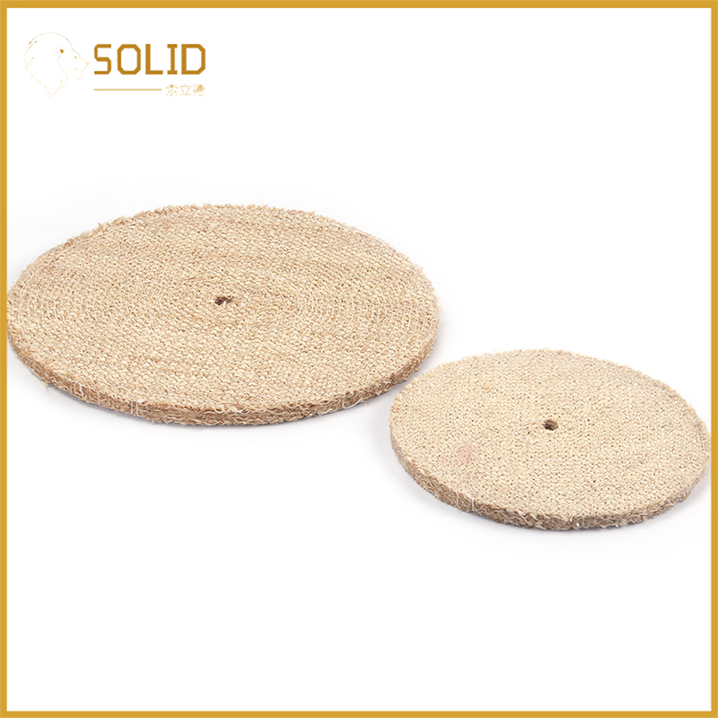 Sisal Buffing Wheel Set Polishing Tool For Polishing Metal And Aluminum 8 Inch Or 12 Inch 1 Or 2Pcs