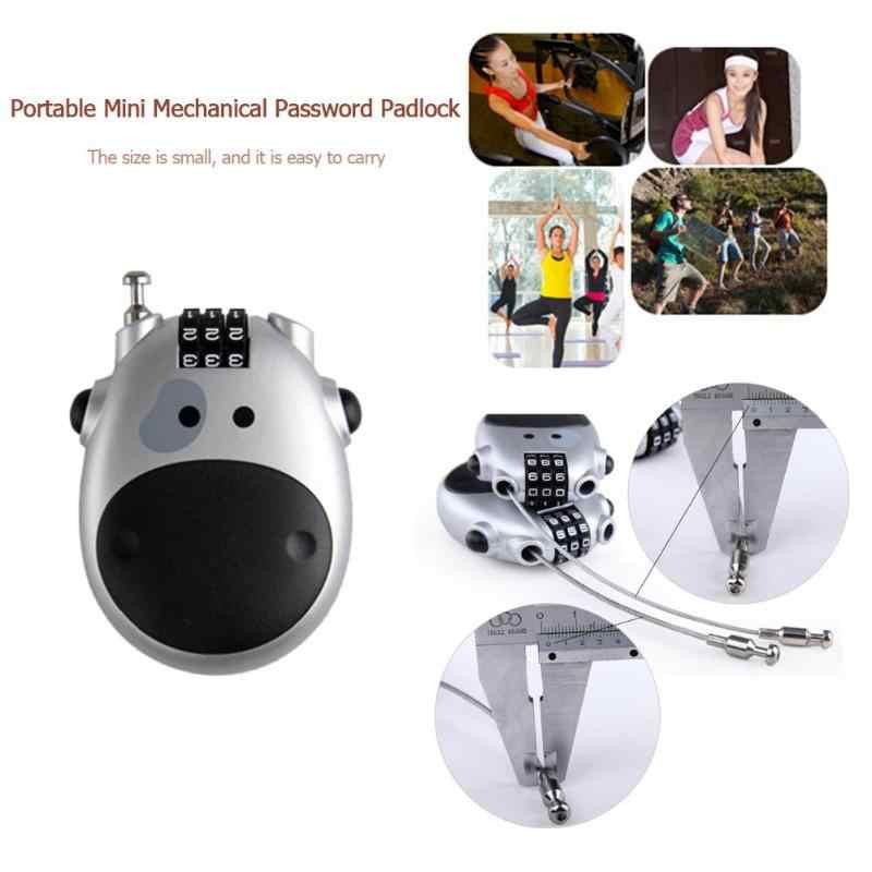 Mot de passe mécanique cadenas rétractable casque de vélo serrure armoire porte cadenas valise combinaison serrure Blindman clé protéger