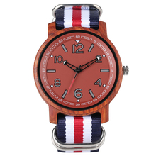Men's Stylish Handmade Quartz Wood Watch Lightweight Colorfu