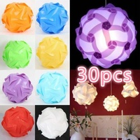 9 Colors 30pcs Elements Modern IQ Puzzle Jigsaw Light Lamp Shade Ceiling Lampshades