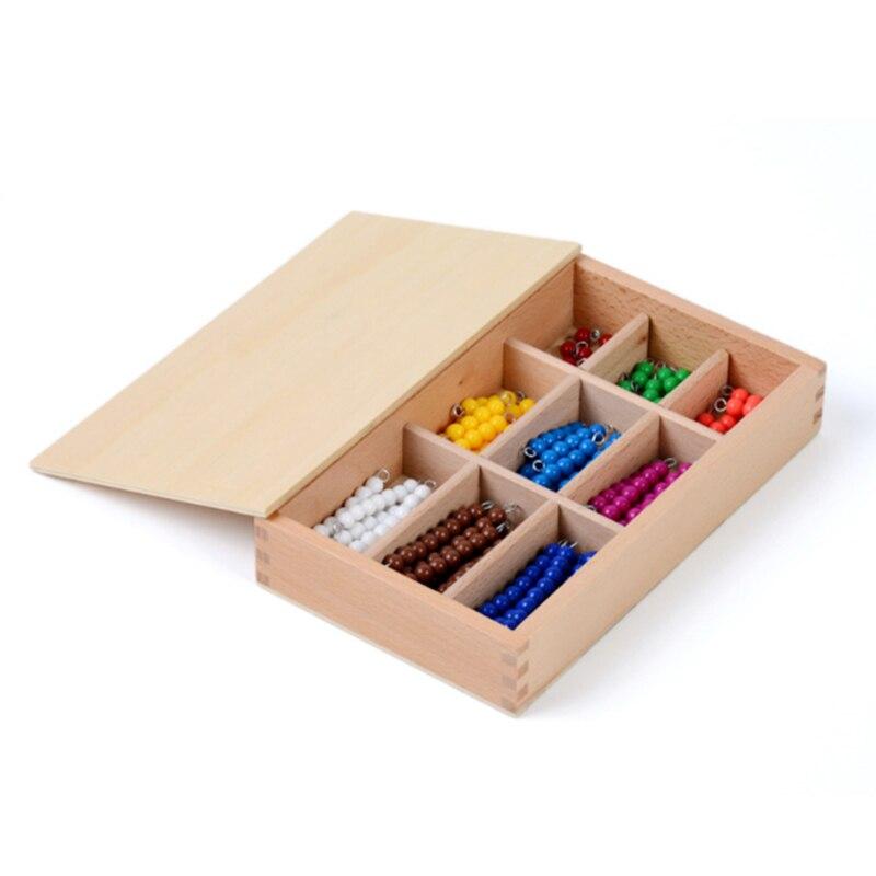 Montessori éducatif en bois jouet coloré damier conseil perles mathématiques jouets petite enfance préscolaire formation apprentissage jouets - 2