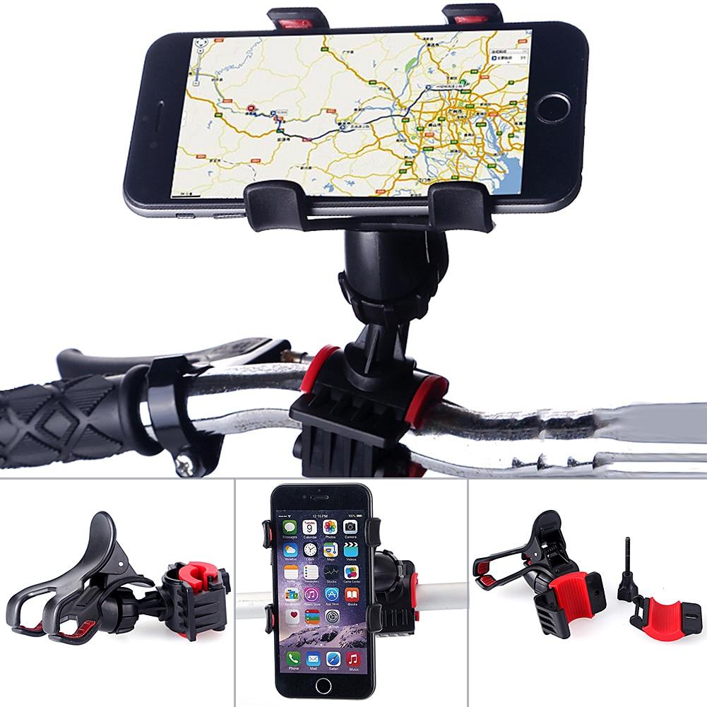 360° Rotation Aluminum Motorcycle Handlebar Bicycle Cell Phone Mount GPS Holder
