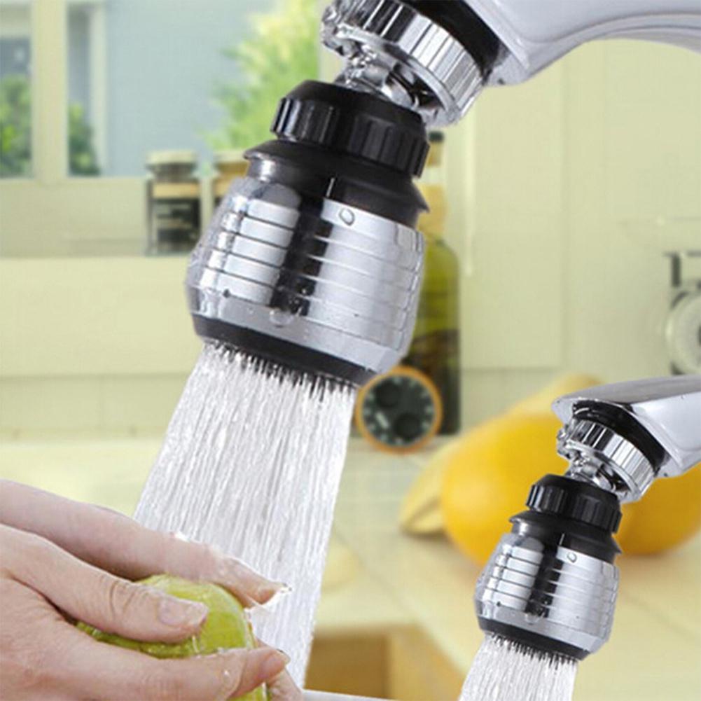 LanLan 360 градусов вращающийся кран фильтр для воды смеситель анти-всплеск экономизатор Кухонные смесители поставки черный