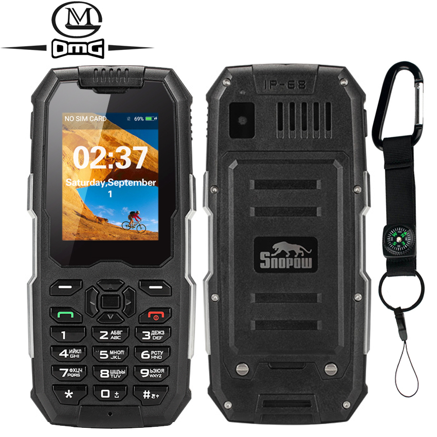 Snopow M2 Russian keyboard IP68 rugged Waterproof Shockproof mobile phone 2500mAh Unlocked Telphones Dual SIM gsm
