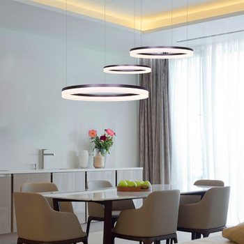 Umeiluce Free Shipping Modern Led Pendant lights Round Acrylic Rings 90-265V Led Suspension Lamp for Dining Living Room