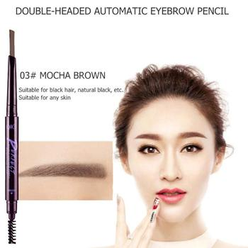 Double-head Makeup Eyebrow Pencil Long-lasting Waterproof Automatic Eyebrow Pencil with Brush Makeup Eyebrow Tatoo Pen Tool image