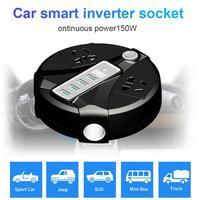 Car Power Inverter DC12V/24V 150W Digital Dsiplay Voltage 4 USB Port Socket