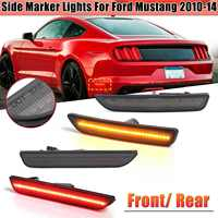 Front / Rear Red / Amber LED Smoked Side Marker Lamps Lights Turn Signals Light For Ford For Mustang 2010 2011 2012 2013 2014