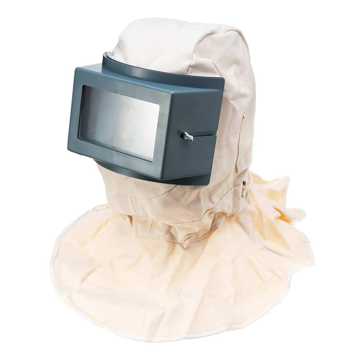 Safety Sandblast Sandblasting Helmet Hood Protector Mask Anti Dust Spray Paint Workplace Safety Protective Masks Accessories