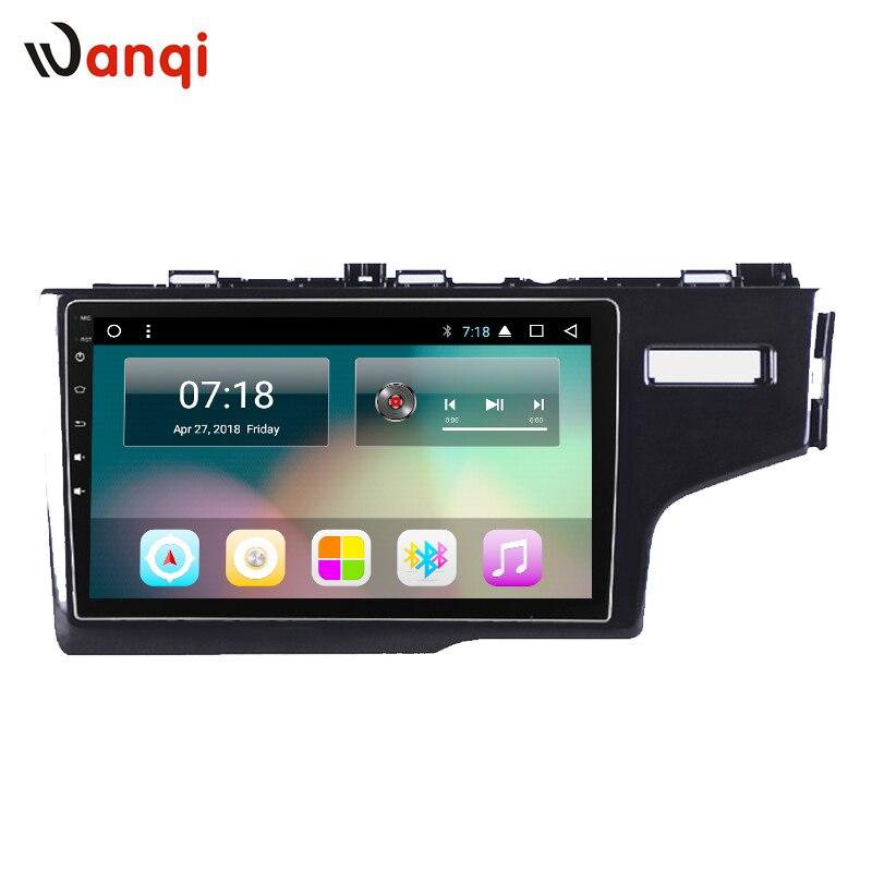 10.1 pouce Android 8.1 Voiture de Navigation GPS Pour Honda fit 2014-2018 droit lecteur solitaire Soutien Stéréo Audio Radio vidéo Bluetooth