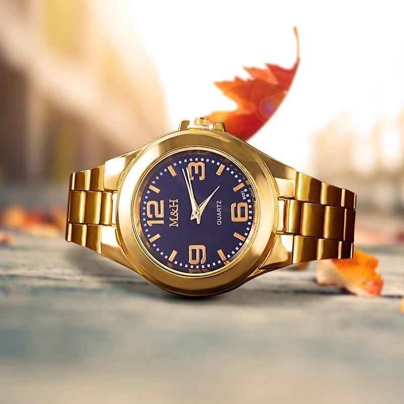 Pulseras Para Hombre Jam Tangan Pria 2020 Mens Watch Top Luxury Brand Watch Men Gold Full Steel Quartz Wrist Watches Watch Male