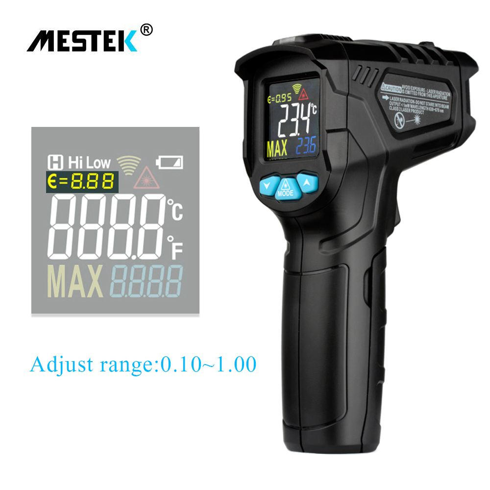 MESTEK IR01C 50 550C Digital Thermometer Humidity Meter Infrared Thermometer Hygrometer Temperature Humidity Meter Pyrometer