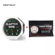 15 Feet Vapor Storm Clapton Wire Roll A1 SS316 Organic Cotton 10 Strps E Cigarette Heating.jpg 220x220 - Vapes, mods and electronic cigaretes