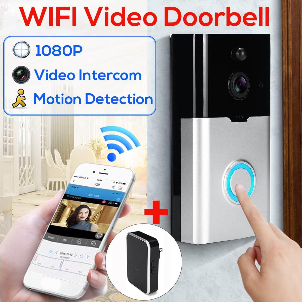 100% QualitäT Eu Uns Stecker Smart Video Intercom Türklingel Drahtlose Wifi 1080 P Hd Outdoor Nachtsicht Tür Glocke Fernbedienung Home Security überwachung