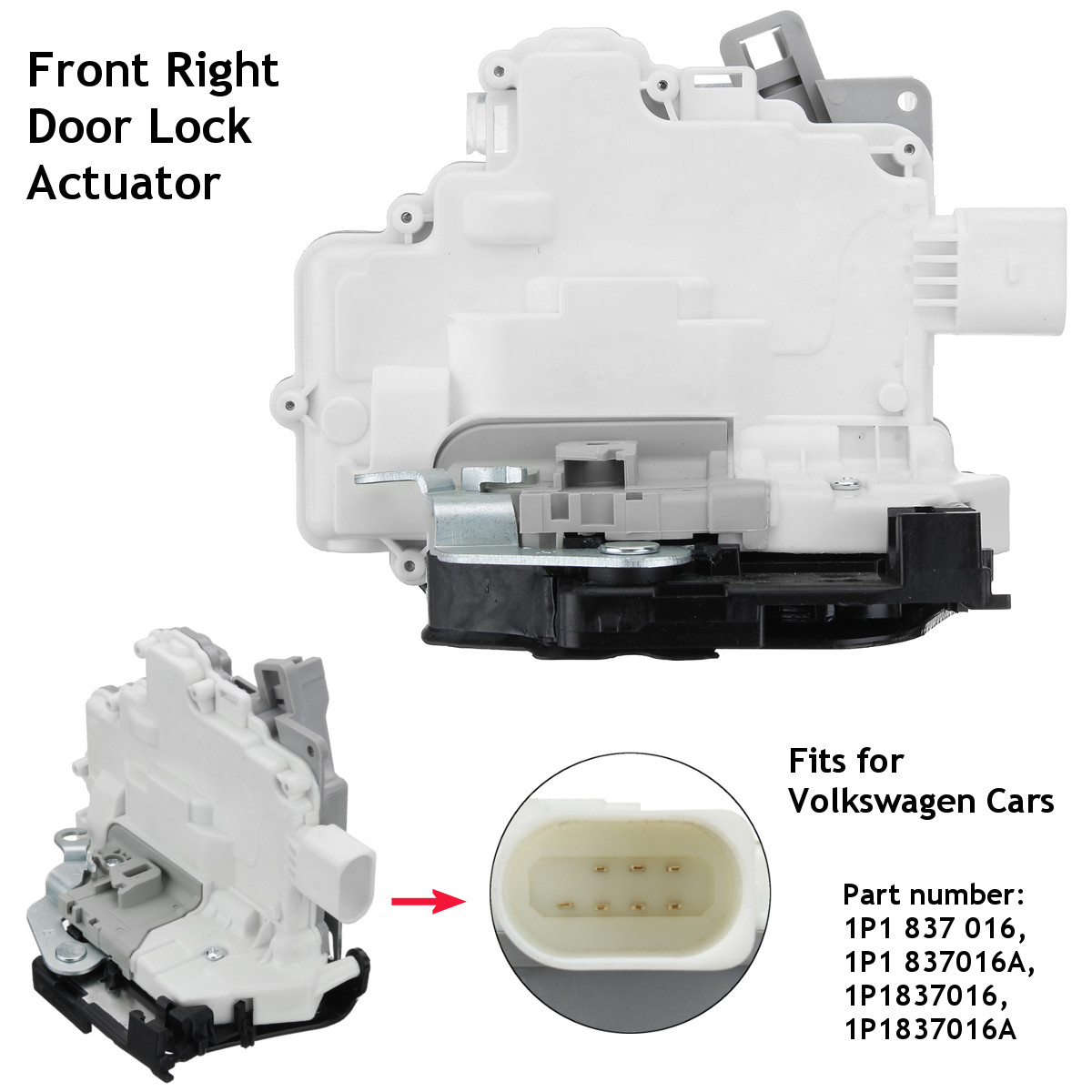 Car Front Right Door Lock Catch Mechanism Actuator For VW Seat Altea Toledo 3 mk3 Leon Altea XL 5P1 5P2 1P1 5P5 5P8 EOS 1F7 1F8