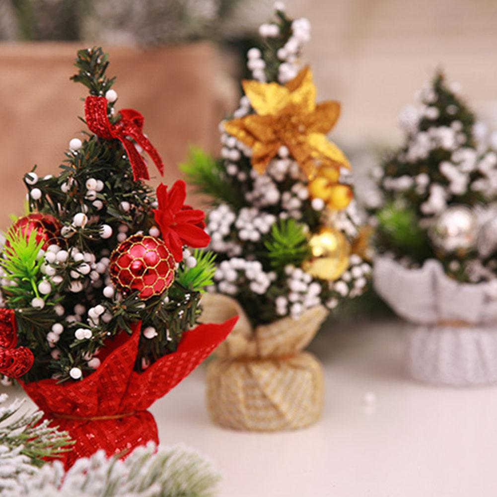 Mini christmas tree 20cm new year table decoration ornaments merry christmas decorations for - Small christmas tree ideas ...