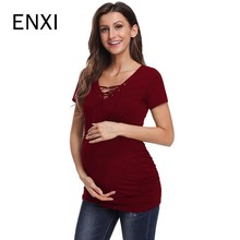 ENXI Pregnancy Maternity Clothes Maternity Top
