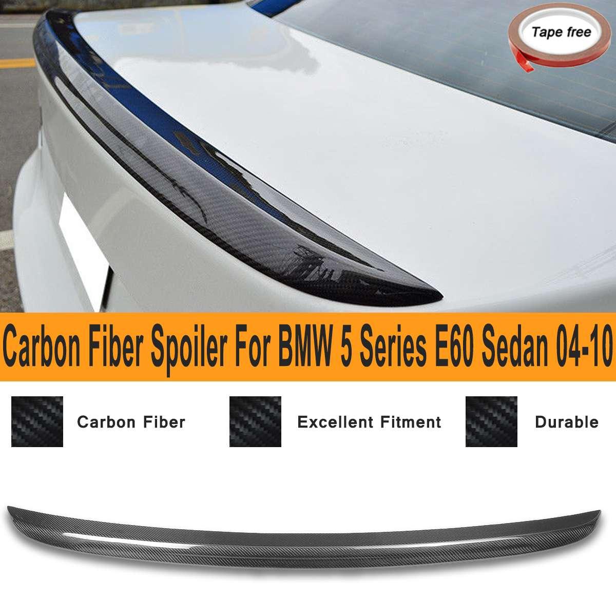 Réel Carbone fibre Arrière Tronc Spoiler Aile pour BMW 5 Série E60 Berline M5 Style 2004-2010 Extérieur pièces de rechange