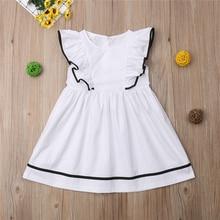 3-11 Years Kids Baby Girls Dress White Summer Clothes