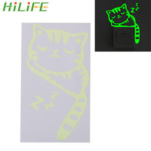 Wall-Stickers Glowing Home-Decor Cartoon Switch 1pc Fluorescent HILILFE