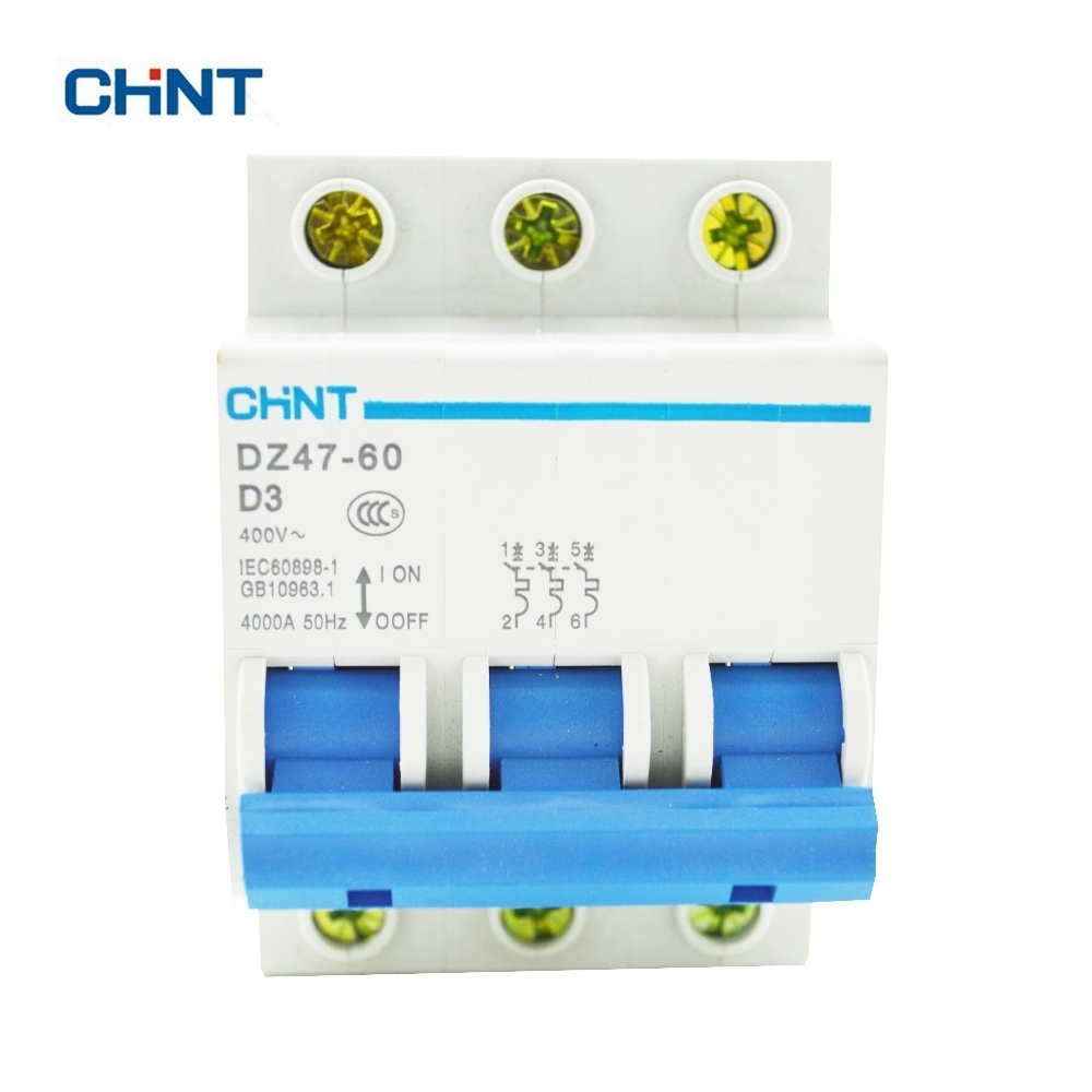 CHINT Miniature Circuit Breakers Mcb DZ47-60 3P D3 3A Household Air Switch For Distribution Control And Lighting