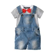 VTOM Baby Boys Clothing Sets Kids Short Sleeve Tops+Suspenders Pants 2PCS  Formal Fashion Clothes XN15