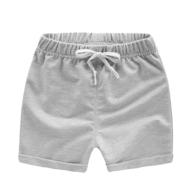 Pantalones cortos de algodón para niños playa deportes pantalones cortos verano Casual cordón cintura elástica ropa