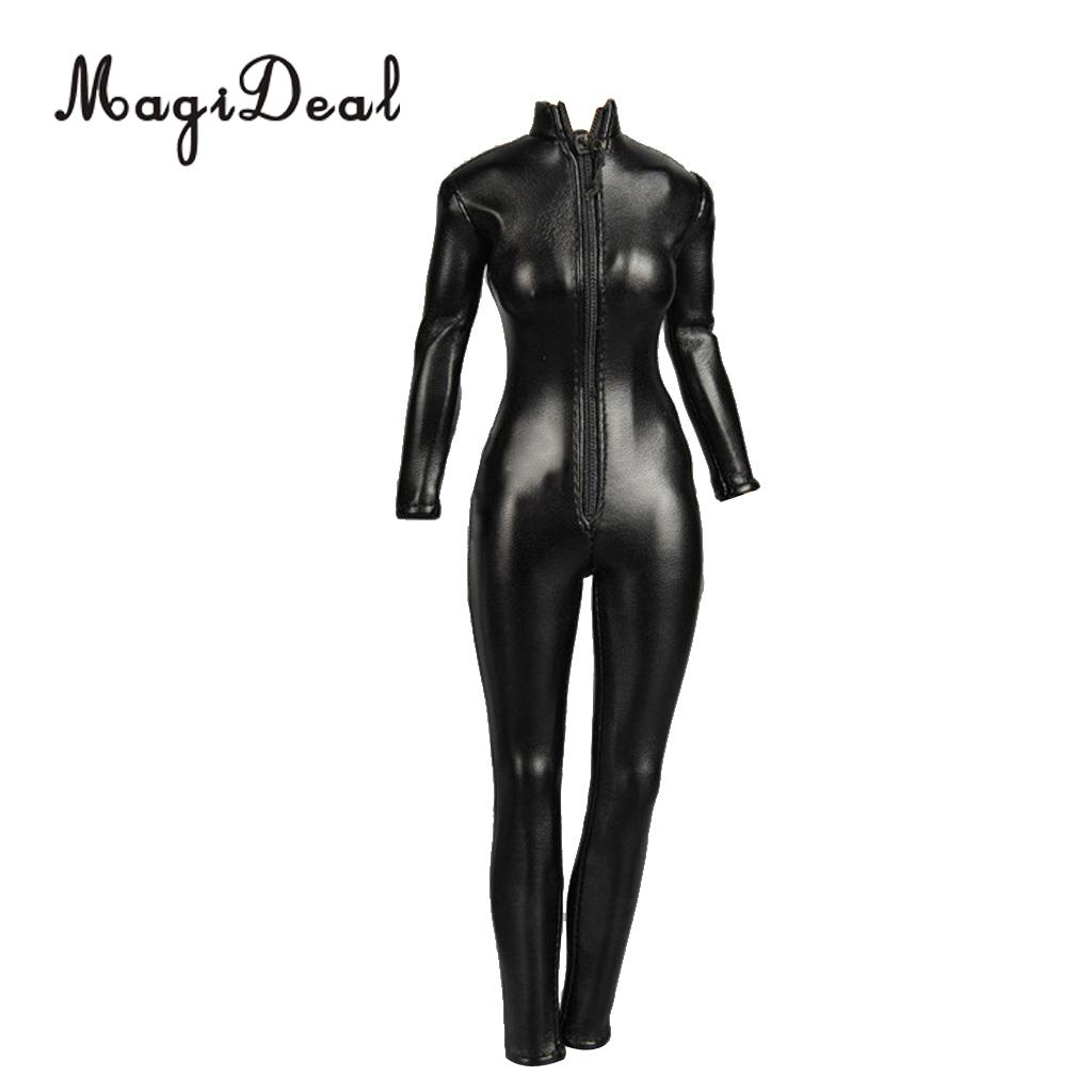 1:6 Scale Simulation Artificial Leather Jumpsuit for 12/'/' Action Figure Gold