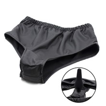 Latex Dildo Underpants Female Male Chastity Pants With Anal Plug Sex Toys Anus Massage Stimulator Adult Masturbator Sexy Product
