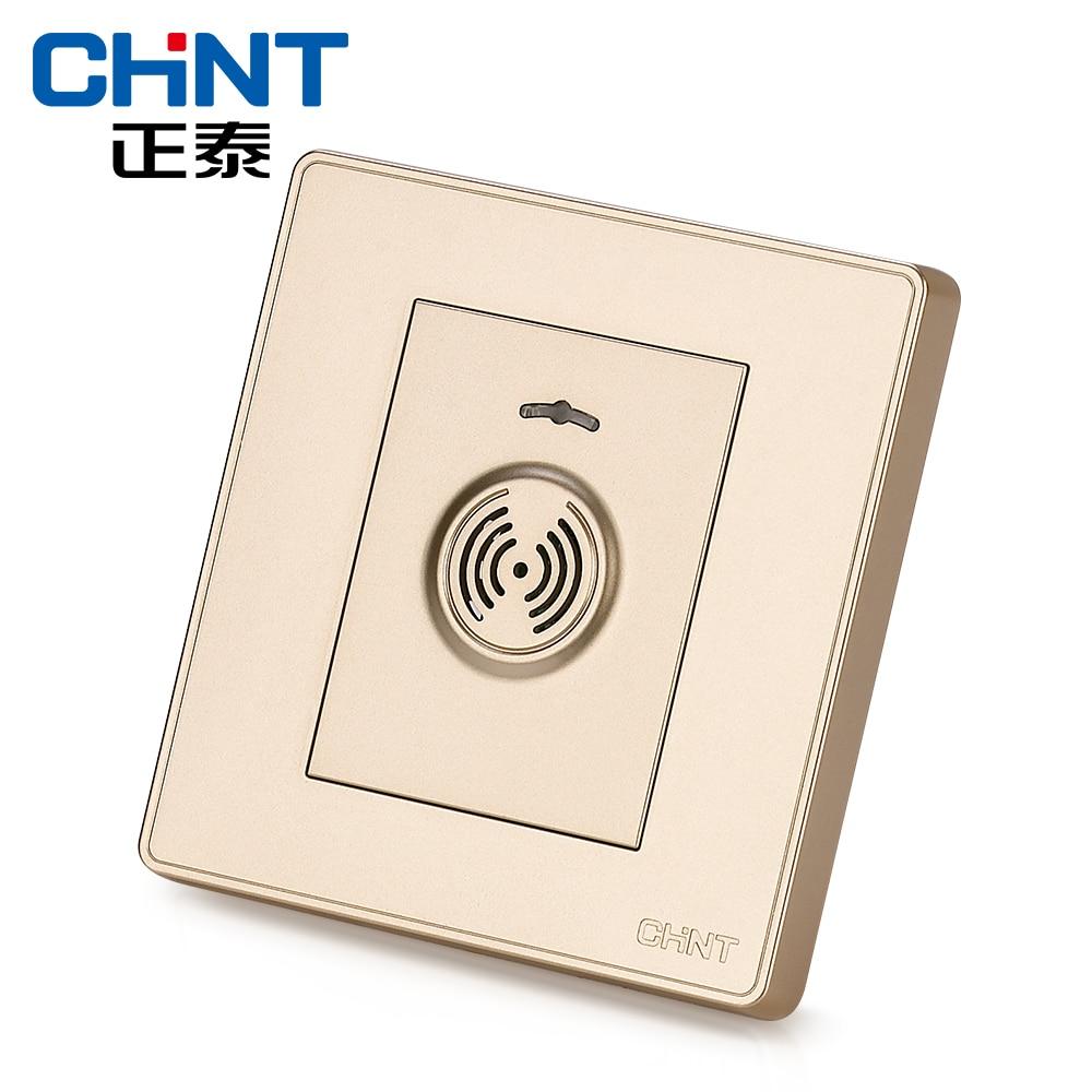 Interrupteur de retard de contrôle du son CHINT interrupteur mural NEW2D lumière Champagne or interrupteur de retard de contrôle du son et de la lumière - 2