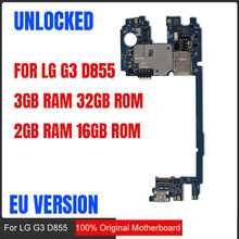 for LG G3 D855 Motherboard with Android System,100% Original unlocked for LG G3 motherboard,Free Shipping(China)