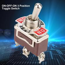 original new 100% united states import ms90310 221 gold pin toggle switch 2pin on off 5Pcs/Lot ON-OFF-ON 3 Position Toggle Switch 3 Pin 12mm 15A 250VAC Power Button Switch Toggle Switch
